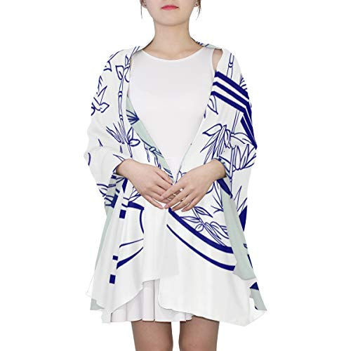Blaue und weiße Porzellan Einzigartige Mode Schal für Frauen Leichte Mode Herbst Winter Print Schals Schal Wraps Geschenke für den Vorfrühling China Creamer