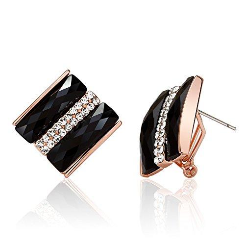 orecchini di cristallo/Moda qualità decorazione esagerata clip orecchio/ (Ciondolano Clip)