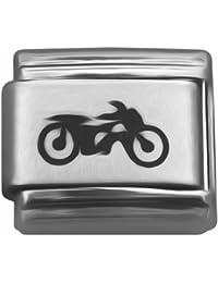 Laser encanto italiano para Motor de bicicleta clásica de nominación de la pulsera