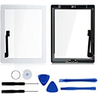 White For iPad 4 Glass Digitizer Touch Screen A1458 A1459 A1460 with Home Button