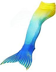 Alxcio Badeanzüge Meerjungfrauenschwanz zum Schwimmen ohne Meerjungfrau Flosse - Mädchen, Kinder