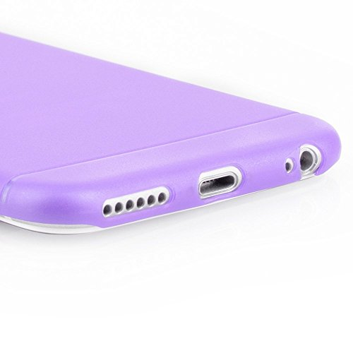 AcAccessoiress-Iphone 6/6S(4,7) Ultra Slim Case Schutzhülle in Weiß transparent matt-Ultra dünne Iphone Hülle mit Kameraschutz Rundumschutz Lila