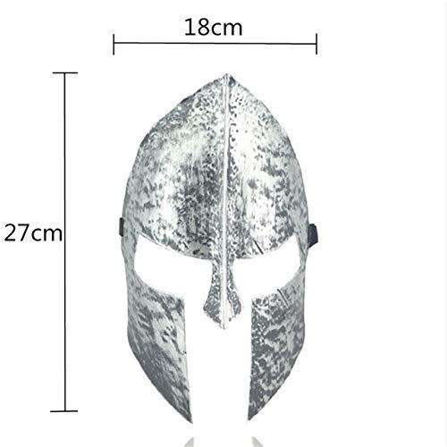 WSJDE Goldene Silber Spartan Warrior Helm Masken Halloween Party Dekoration Erwachsene Cosplay Maskerade Antike Grimasse Maske Stirnband, - Sexy Spartan Kostüm