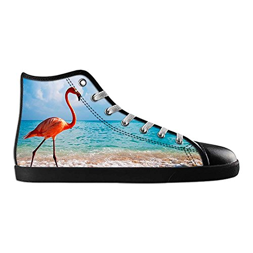Dalliy Pink Flamingo Men's Canvas shoes Schuhe Lace-up High-top Sneakers Segeltuchschuhe Leinwand-Schuh-Turnschuhe A