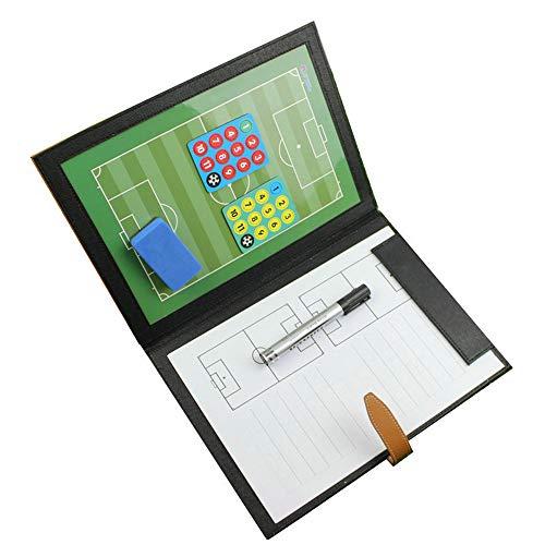 RoseFlower 48 x 32 cm Trainer Taktikmappe Fussball, Professional Faltbares Fußball Taktikmappe Taktiktafel Coach-Board mit Magnete, Stifte und Radiergummi