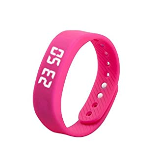 Tutoy T5 Smart Sport Bracelet Auto Date Podemeter LED Display Five Colors Women Men Wristwatch - Blue