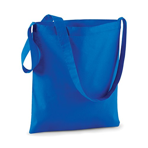 Westford Mill - Sac de Shopping Personnalisable Sangle Bandoulière Westford Mill - Blanc Bleu Royal