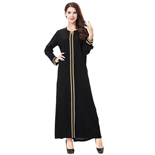 Muslimische Damen Herbst Langarm Kleid Hochzeit Kaftan Robe Tunika Abaya Dubai Maxikleid Abendkleid...
