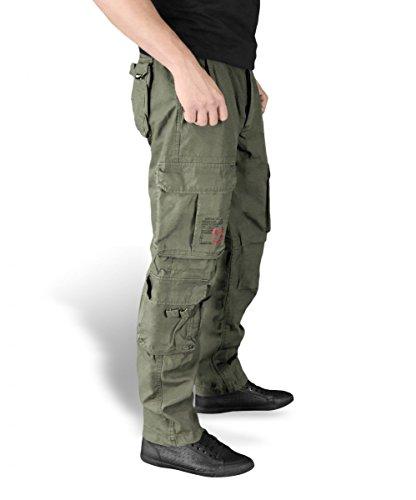 Surplus Homme Cargo pantalon Airborne Vintage slim Olive