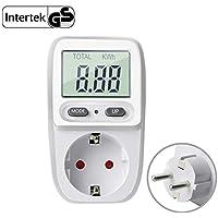 Gifort enchufe medidor de consumo de energía, amplificador de voltaje de energía vatio electricidad uso monitor analizador de energía calculadora