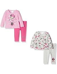 FABTASTICS Minnie Mouse, Pijama para Bebés pack de 2