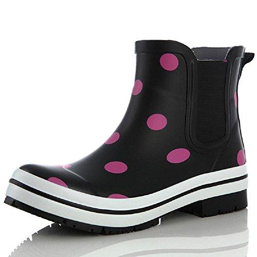 Frühling und Sommer Lady Regen Schuhe Mode Anti-Rutsch Wasserdicht Regen Stiefel Pink