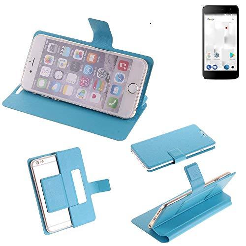 K-S-Trade Flipcover für Thomson Friendly TH101 Schutz Hülle Schutzhülle Flip Cover Handy case Smartphone Handyhülle blau