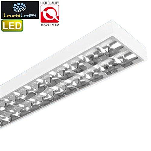 T8 Deckenleuchte (Rasterleuchte geeignet für 2x LED 120cm T8 Rasterlampe Bürolampe Deckenleuchte)
