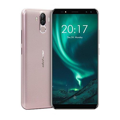 Ulefone Power 3S–Smartphone sbloccato il primo Elio P23Series 18: 9con 4telecamere e Gran batteria telefono cellulare sbloccato, 6.0-Inch in-cell FHD + 2160* 1080pixels, Android 8.1, 4GB RAM + 64GB ROM, Batteria 6350mAh, Fotocamera da 13+ 5MP/8+ 5MP, MTK mt6763Procesor Octa-Core 64-bit 2.0GHz CPU, Dual SIM, colore: nero/oro