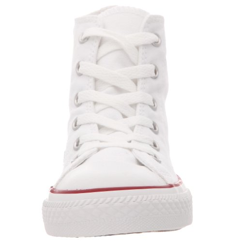 Converse - Youths Chuck Taylor All Star Hi - Sneakers Basses - Mixte Enfant Blanc Optical