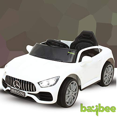 Baybee Merce Benz Baby Toy Car Rechargeable Battery Operated Ride on car for Kids/Baby with R/C Jeep Children Car Electric Motor Car Kids Cars,Baby Racing Car for Boys & Girls (White)