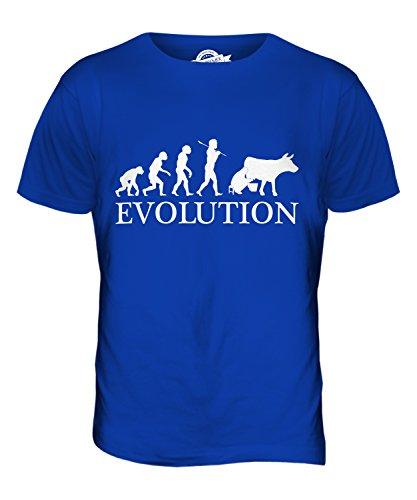 CandyMix Milchbauer Evolution Des Menschen Herren T Shirt Königsblau