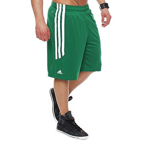 Grün Herren-basketball - (85Y3 adidas Ekit 2.0 O22295 Herren Shorts Basketballhose Grün/ Weiß 4XT)