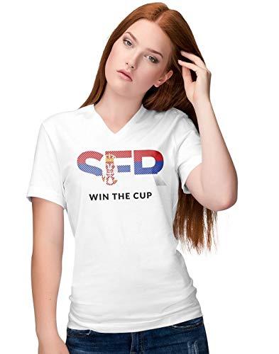 BLAK TEE - Camiseta Manga Corta Mujer Cuello V Copa