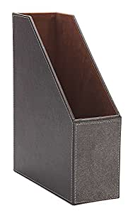 Osco Faux Leather Magazine Rack - Brown