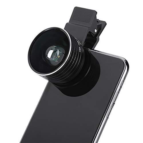 ASHATA 20X Objektiv Zoom Mikroskop, Tragbar 20X Fokus Optisches Mikroskop Weitwinkelobjektiv,Clip-On Tele Handy Kameraobjektiv Optisches Makroobjektiv mit Aufbewahrungstasche für Mobiltelefone - Handy-mikroskop