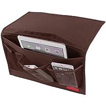 Bedside Caddy 4-Pocket habitación dormitorio mesilla de noche Almacenamiento Colchón libro TV remoto iPad iPhone funda para revista Caddy organizador sofá cama bolsillos organizador colgante unidad de almacenamiento bolsa organizador bolsillos para camas de cabina de comercio Pro