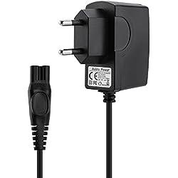 Aukru Chargeur 15V 500mA Alimentation pour Rasoir électrique Philips AquaTouch at-Serie AT750, AT751, AT752, AT753, AT890, AT890, AT891, AT893, AT940 - Noir