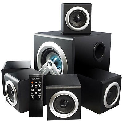 iChoose Limited Wireless 5.1 Speakers Bluetooth Home Cinema System with 28W Surround Sound Stereo Subwoofer / iCHOOSE