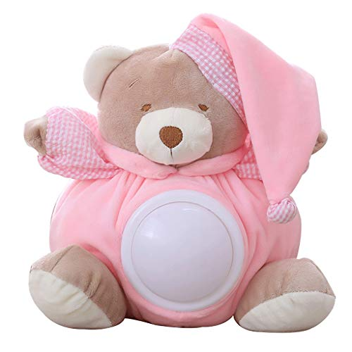 JWDYA Peluche, Baby Gifts White Noise Sound Machine, Peluche Luce Soother sussidio di Sonno Notturno (Color : Pink)