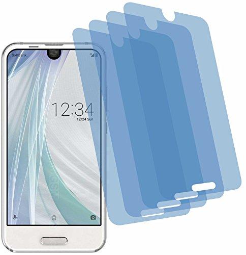 4x Crystal clear klar Schutzfolie für Sharp Aquos R Compact Displayschutzfolie Bildschirmschutzfolie Schutzhülle Displayschutz Displayfolie Folie (Sharp Handy Aquos Crystal)