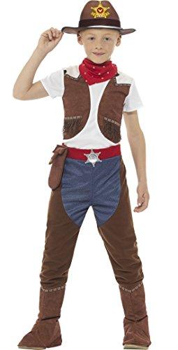 Carnevale bud–bambini cowboy sceriffo con fazzoletto, 104–152, 4–12anni, multicolore