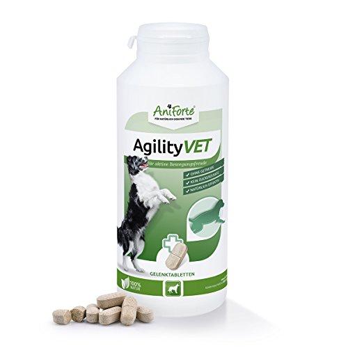 AniForte AgilityVet Gelenk-Tabletten für Hunde 300 Stück, Mit Kollagen, Grünlippmuschel-Pulver, Teufelskralle, Weihrauch und Omega-3 Extrakt, Deutsches Produkt