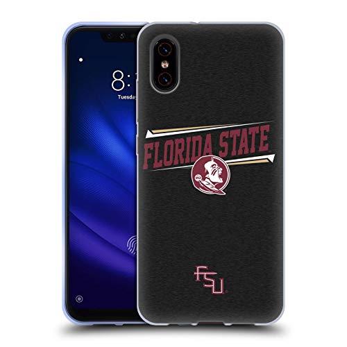 Florida State Head (Head Case Designs Offizielle Florida State University FSU Doppelter Stab Soft Gel Huelle kompatibel mit Xiaomi Mi 8 Pro)