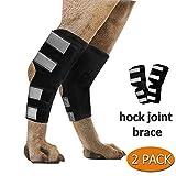 newmeil Attelle de Chien-Joint Wrap et de Soutien pour Les jarrets de Chiens atteints d'arthrite, souches et prévenir Les blessures-Attelle de la Jambe de Chien (M)