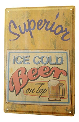 LEotiE SINCE 2004 Blechschild XXL Brauerei Bier Küche eisgekühlt frisch gezapft Bierkrug