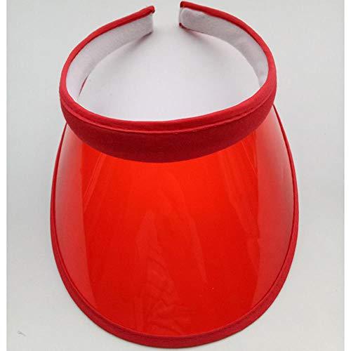 WUSYO Sommer Sunvisor Party Casual Hut Frühling Herbst Durchsichtigen Kunststoff Erwachsener Kappe, Wassermelone Rot (Rot Neue ära Hut)