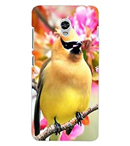 ColourCraft Bird with Flowers Design Back Case Cover for LENOVO VIBE P1