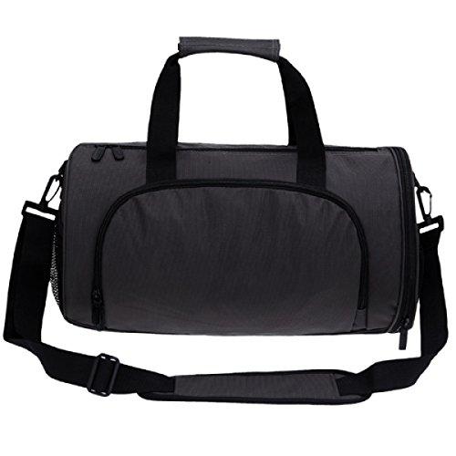 LAIDAYE Schulter Diagonal Tragbare Reisetasche Sporttasche Fitnesstasche Große Kapazität Handtasche Grey