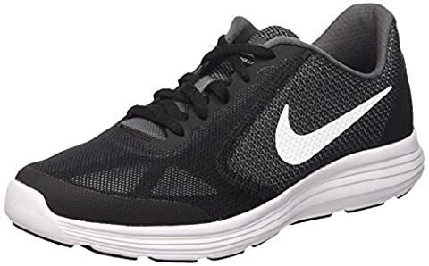Nike Boys' Revolution 3 (GS) Running Shoes, Grey (Dark Grey / White / Black / Pure Platinum), 5 UK