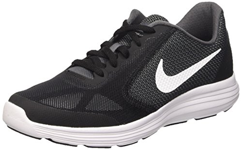 Nike Revolution 3 Gs, Running Garçon Gris (Dark Grey/White/Black/Wlf Grey)