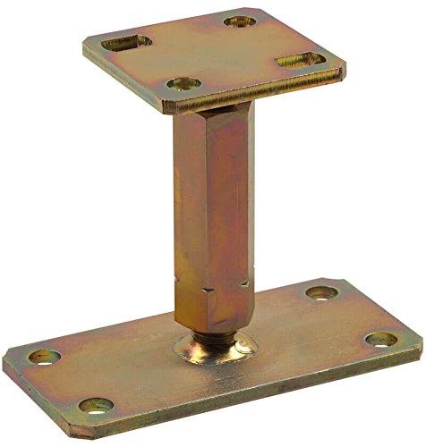 1 Stück profiBAUline Pfostenträger Typ P zum aufdübeln höhenverstellbar