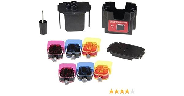 Easy Refill Kit For Hp 302 Colour Cartridges Refill Adaptor 2 Fillings Hp 302 Color So That You Can Printer Ink Cartridges For Hp 302 Color Easy To Fill Yourself Bürobedarf Schreibwaren