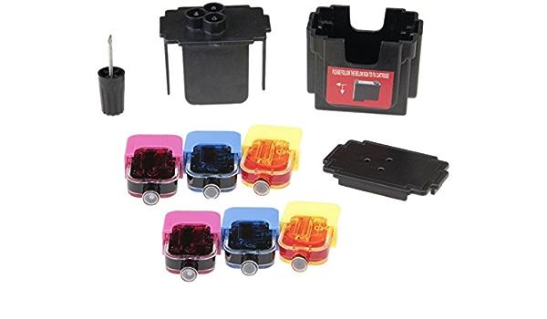Easy Refill Nachfüllset Befülladapter Und 6 X Nachfülltinte Für Hp 305 Color Xl Patronen Druckerpatronen Ganz Einfach Selbst Nachfüllen Mit Video Befüllanleitung In Youtube Bürobedarf Schreibwaren