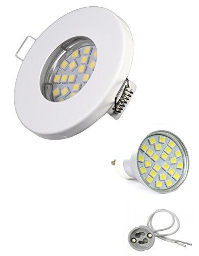 set-faretto-da-incasso-ip65-ottica-bianco-opaco-per-bagno-doccia-sauna-con-gu10-5-watt-led-lampadine