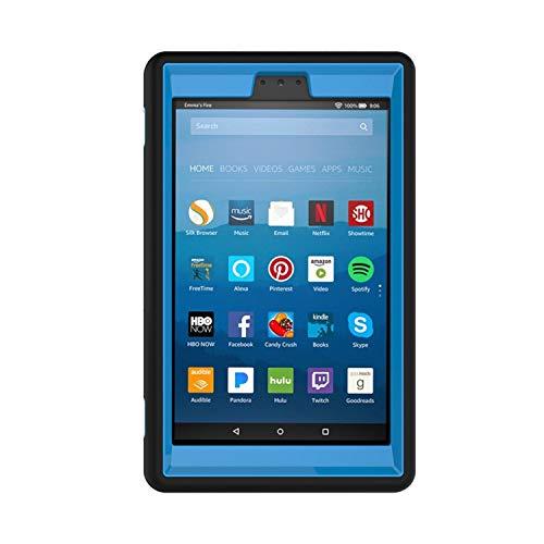 Knlona Kickstand Harte PC Weiche Silikon Abdeckung Kompatibel für Kindle E-Books Fire 7 Zoll Blau