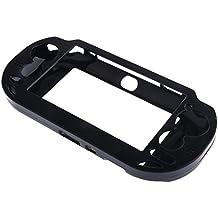 MagiDeal Cubierta Protector Plateada Cepillada Cubierta Caja Carcasa para Sony PS Vita psv1000 - Negro