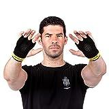 Earwaves  Slim Grips 3H - Calleras Crossfit Cuero para Hombre y Mujer. Guantes Ideales para Calistenia, Gymnastics, Pull ups, Muscle ups, Dominadas Barra y Anillas, etc.