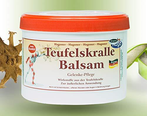 Teufelskralle-Balsam mit Aloe-Vera-Gel - 500 ml | Teufelskralle-Creme für Menschen | Teufelskralle-Schmerz-Salbe bei Verspannungen, Rheuma und Arthrose | Schmerz-Gel Durchblutungsfördernd