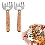 Koowaa 2pcs pinze forchetta per movimentazione Carne in Acciaio Inox Tirare brandello di Insalata di Carne di Maiale frullatore Frutta tagliaverdure